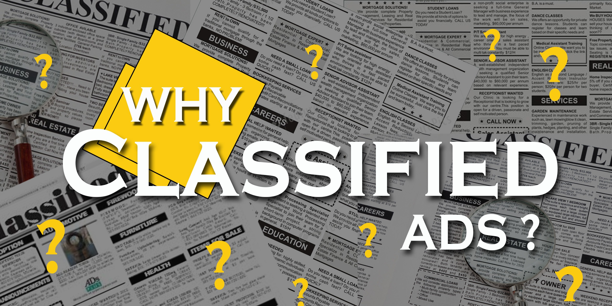 Why Classified Ads?